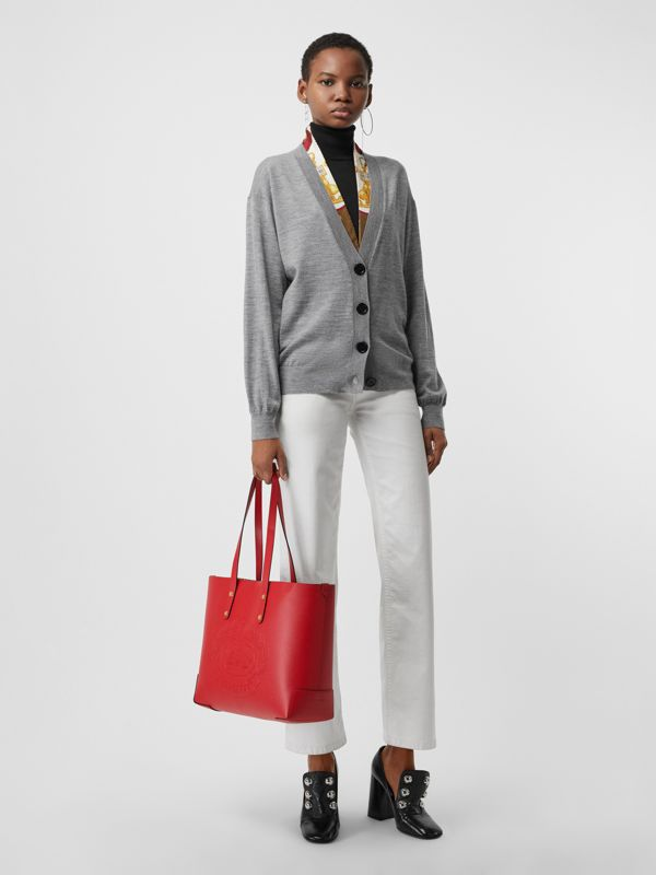 Tote piccola in pelle con stemma impresso (Rosso Ruggine) - Donna | Burberry - cell image 2