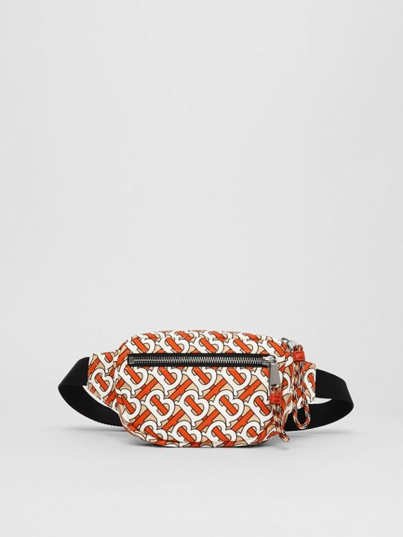 Small Monogram Print Cannon Bum Bag in Vermillion