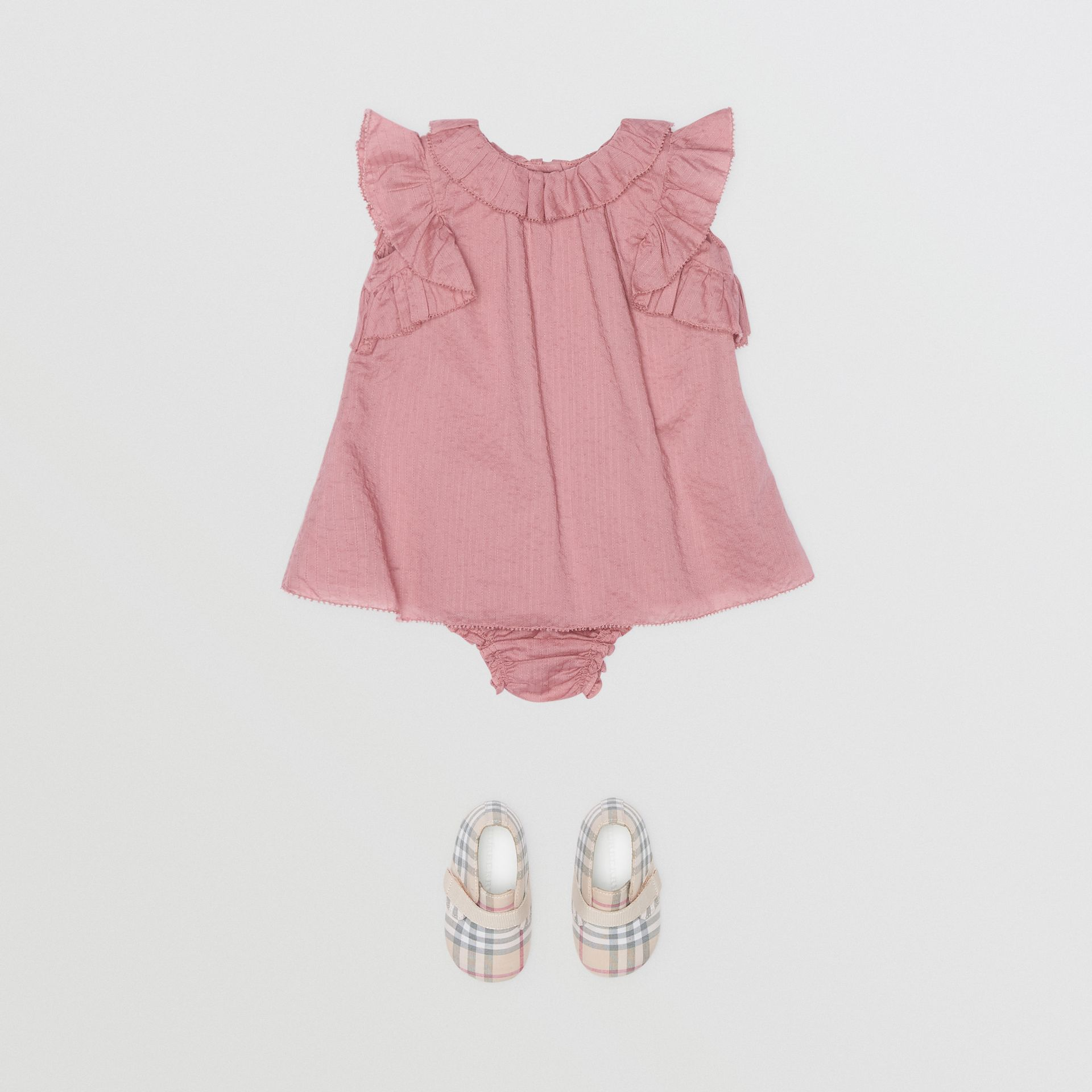 Robe en coton à volants et bloomer (Baie De Sureau Clair) - Enfant | Burberry Canada - photo de la galerie 2