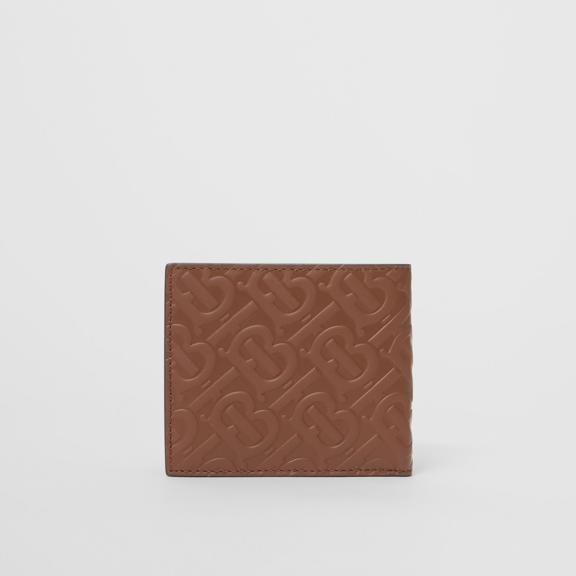 Monogram Leather International Bifold Wallet in Dark Tan - Men | Burberry - gallery image 4