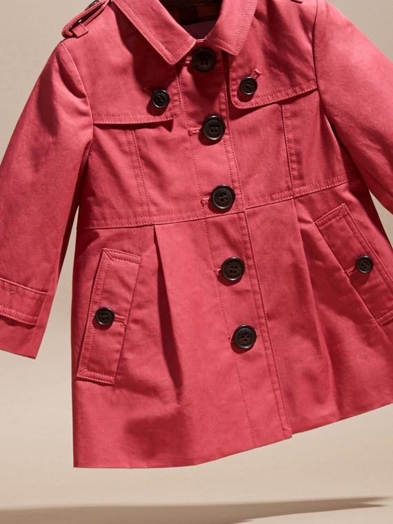 Peony rose Cotton Trench Coat - cell image 2