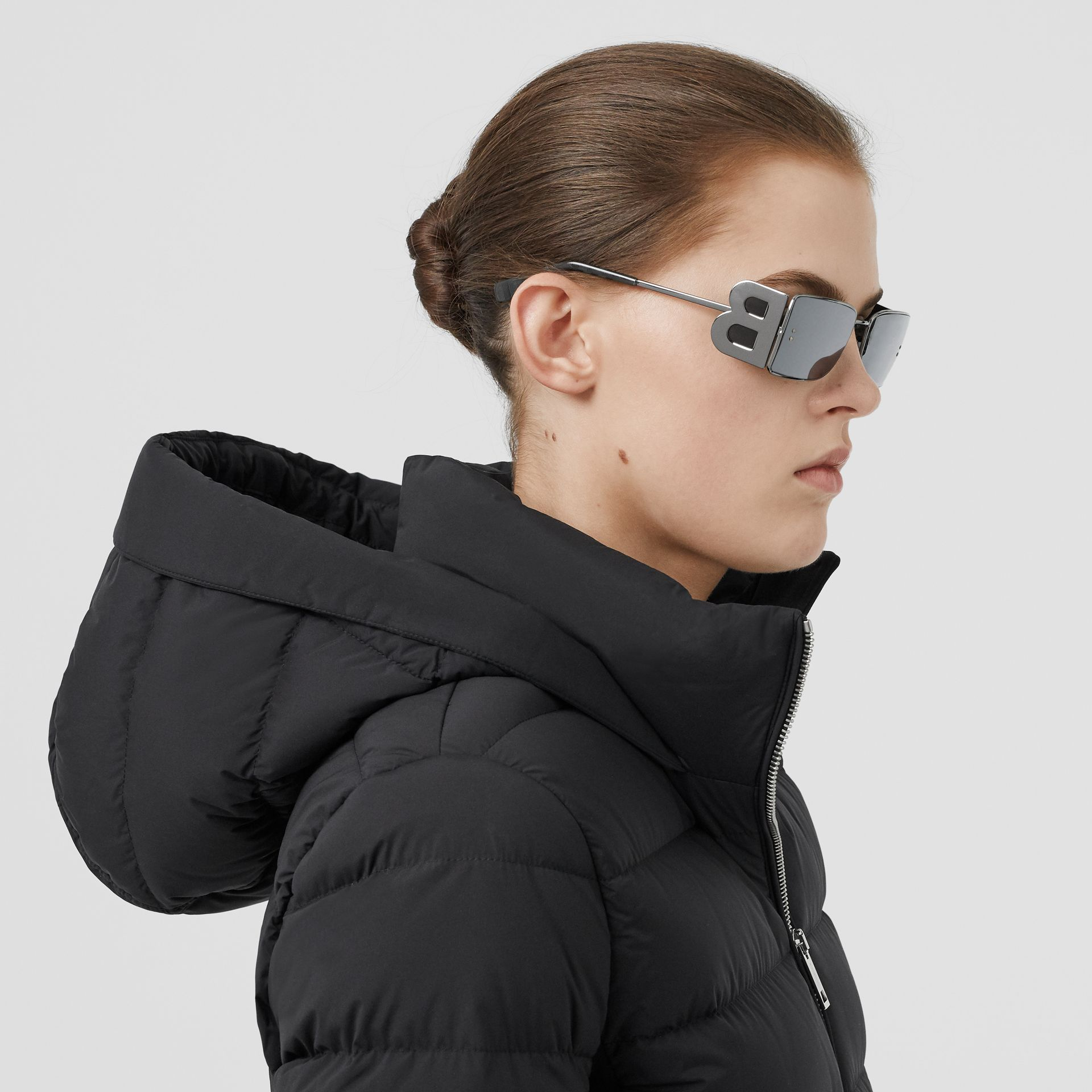 Hooded Puffer Jacket in Black - Women | Burberry Singapore - gallery image 1