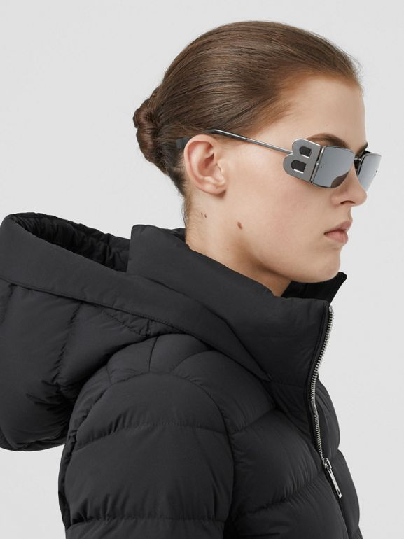 Hooded Puffer Jacket in Black - Women | Burberry Singapore - cell image 1