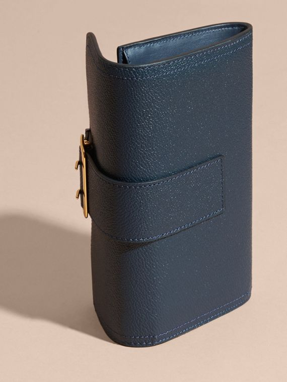 Textured Leather Continental Wallet in Blue Carbon - Women | Burberry Singapore - cell image 2