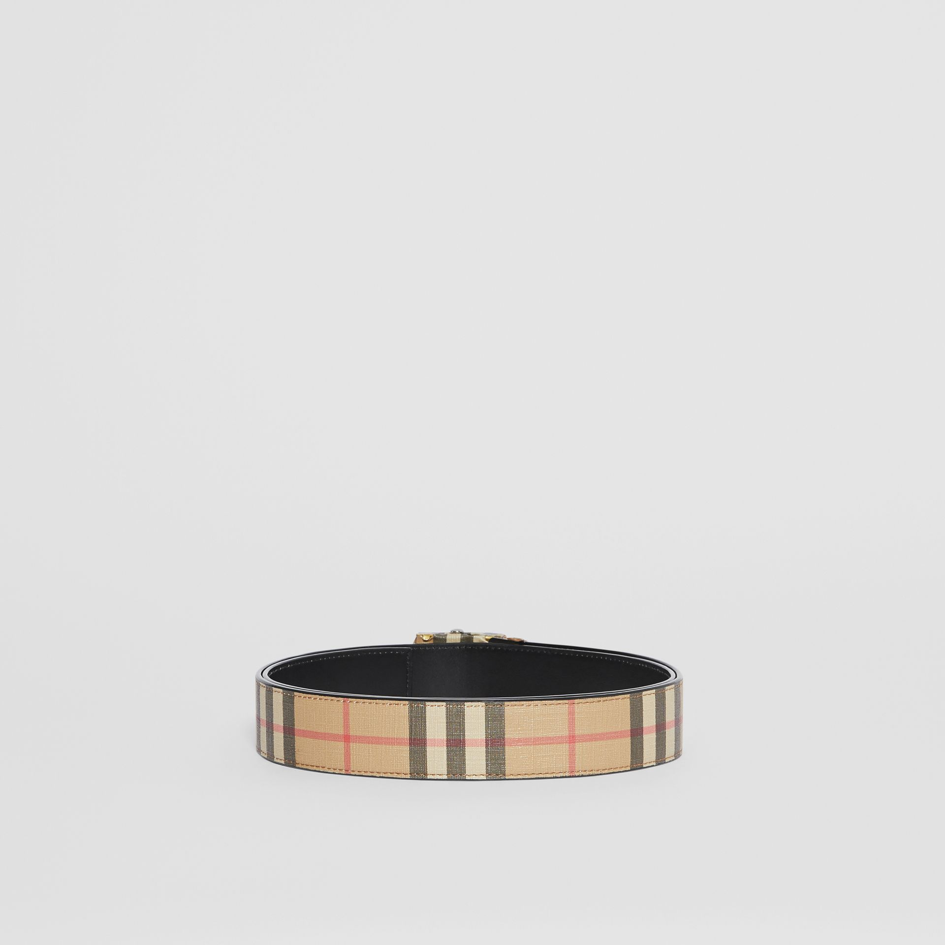 Vintage Check E-canvas Belt in Archive Beige - Men | Burberry United Kingdom - gallery image 4