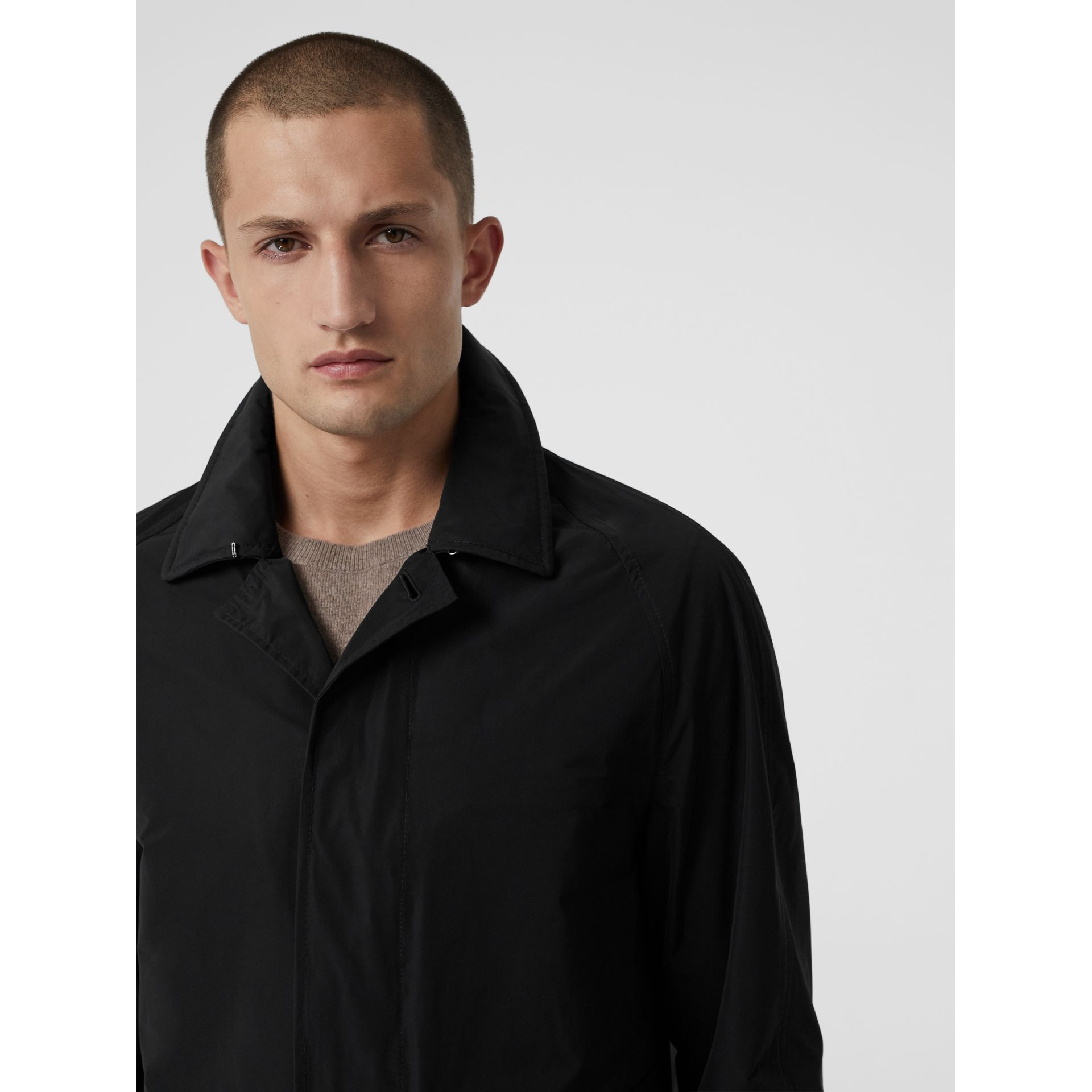 Shape-memory Taffeta Car Coat with Warmer in Black - Men | Burberry Australia - gallery image 4
