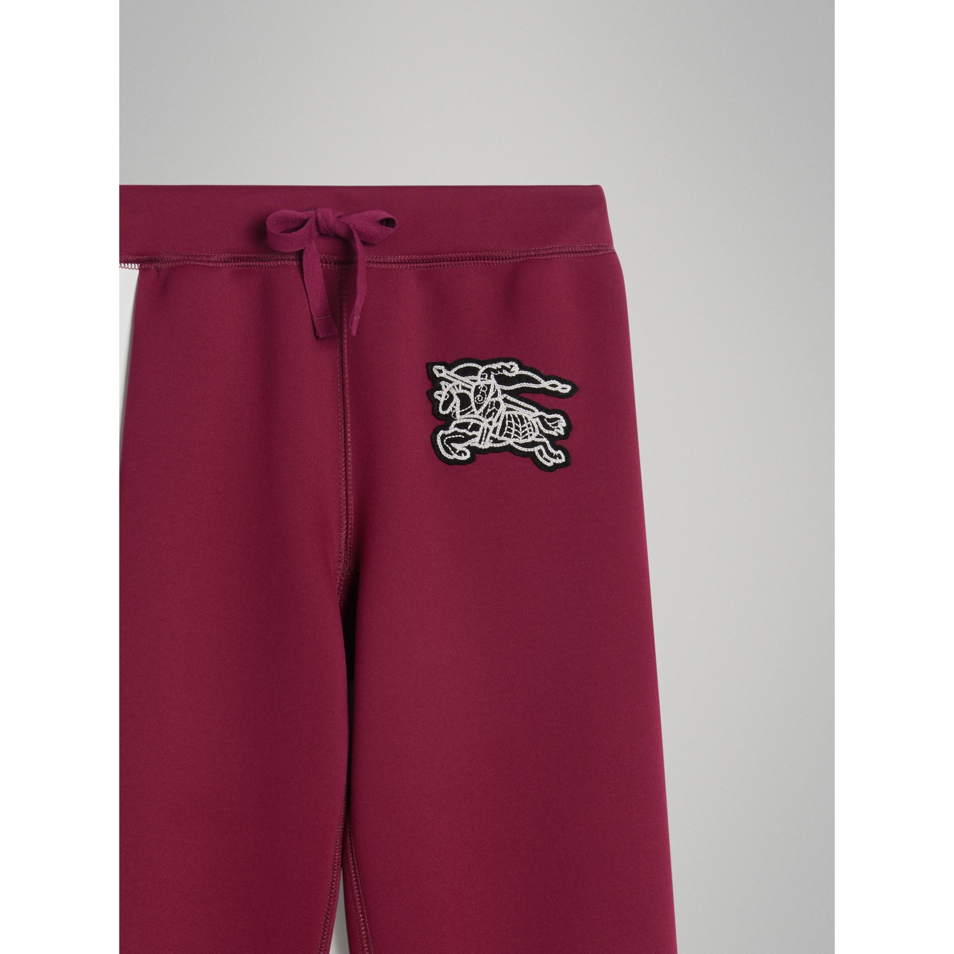 Graffiti Print Jersey Sweatpants in Burgundy - Boy | Burberry - gallery image 3