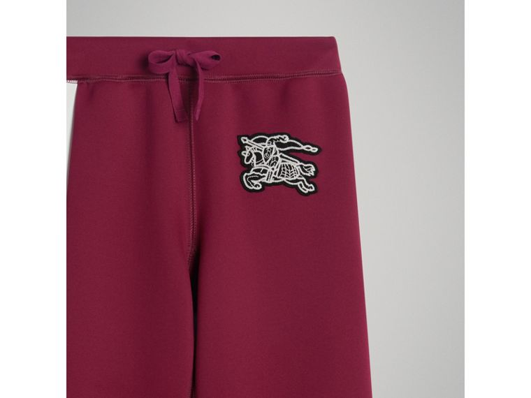 Graffiti Print Jersey Sweatpants in Burgundy - Boy | Burberry - cell image 4