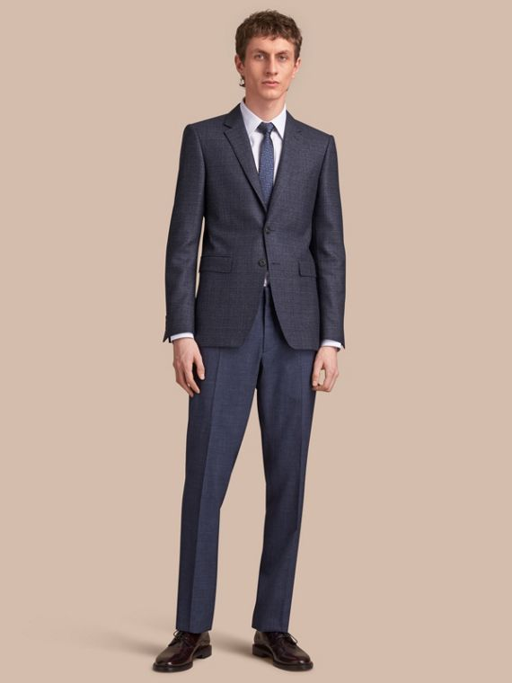 Slim Fit Lightweight Wool Part-canvas Suit - Men | Burberry