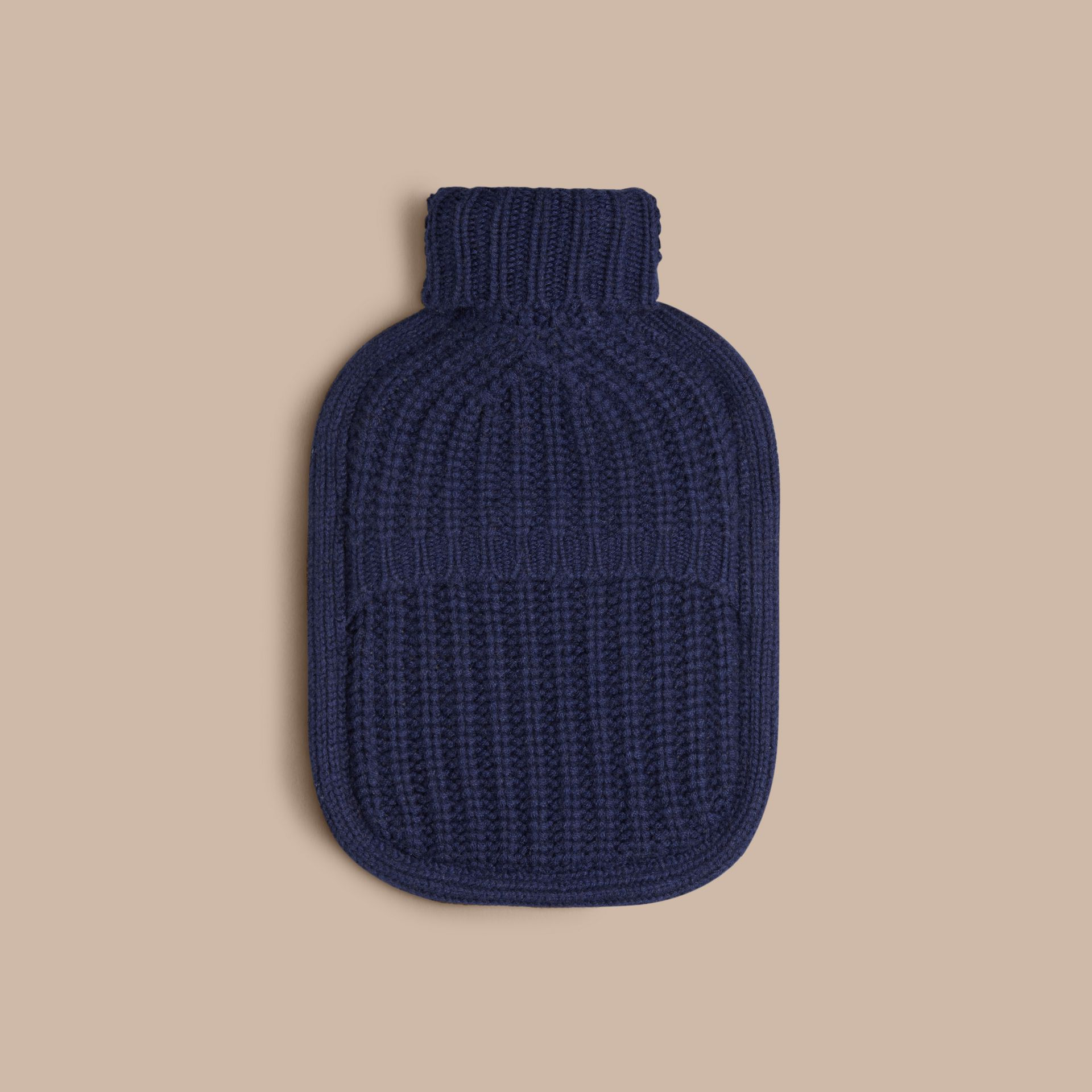 Navy Cashmere Hot Water Bottle Cover Navy - gallery image 2