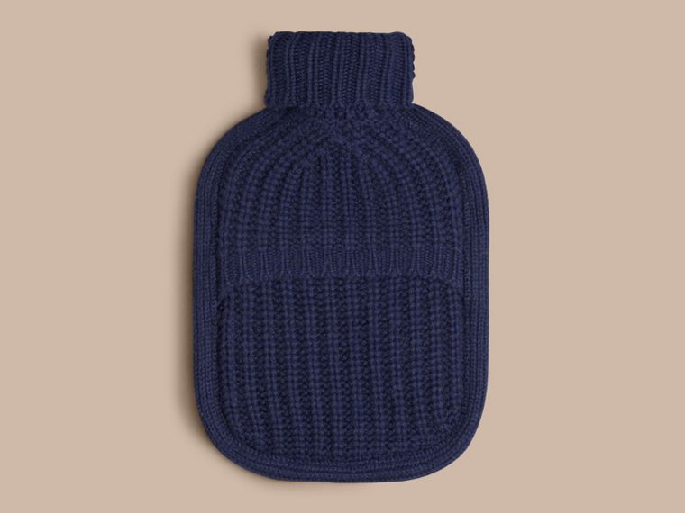 Navy Cashmere Hot Water Bottle Cover Navy - cell image 1