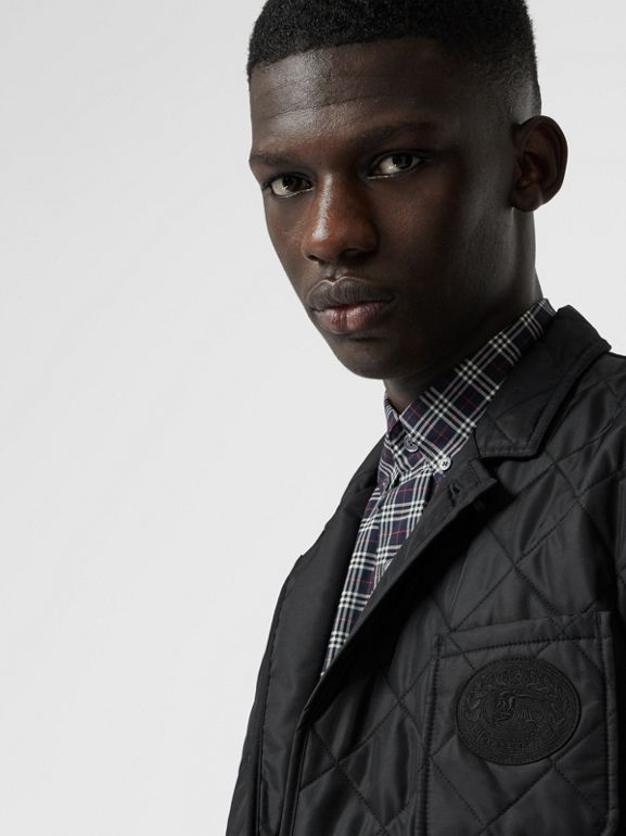 Diamond Quilted Thermoregulated Blazer in Black - Men | Burberry Australia - cell image 1