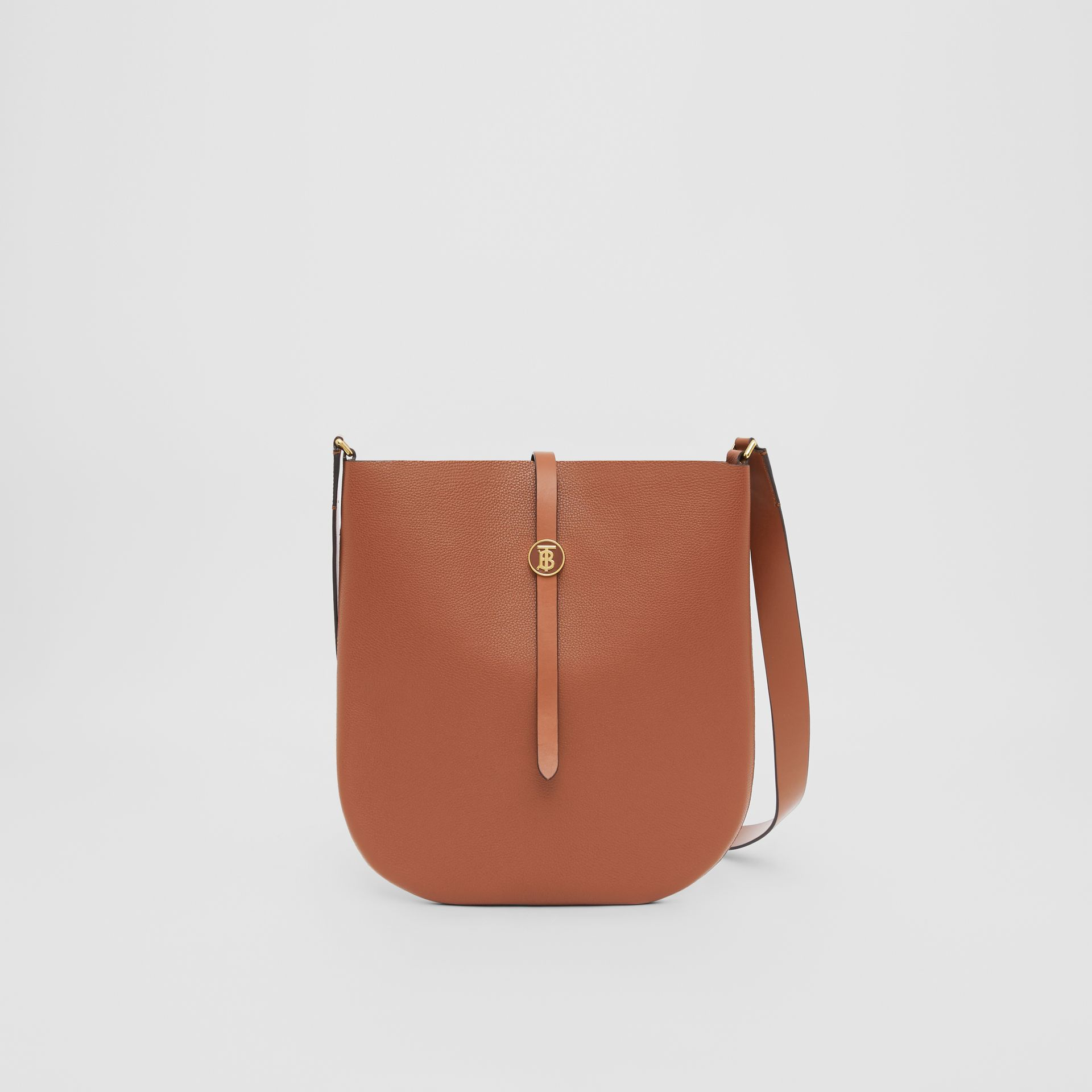 Grainy Leather Anne Bag in Tan - Women | Burberry United Kingdom - gallery image 0