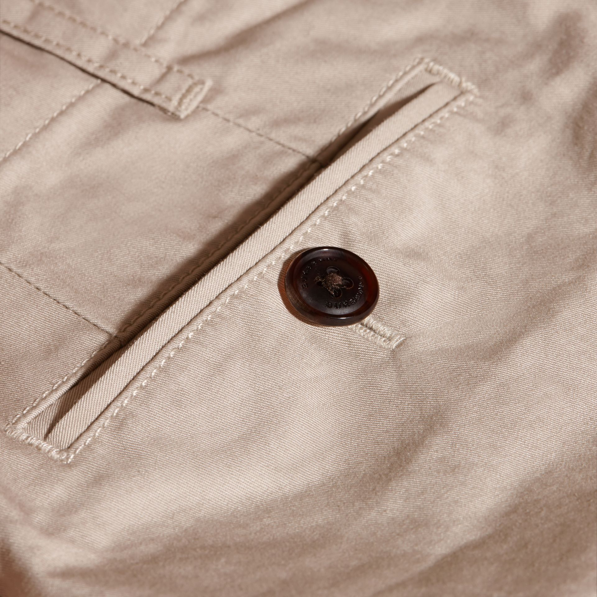 Cotton Chinos in Taupe - gallery image 2