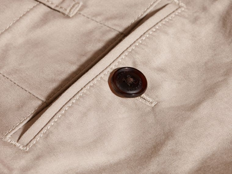Taupe Cotton Chinos Taupe - cell image 1