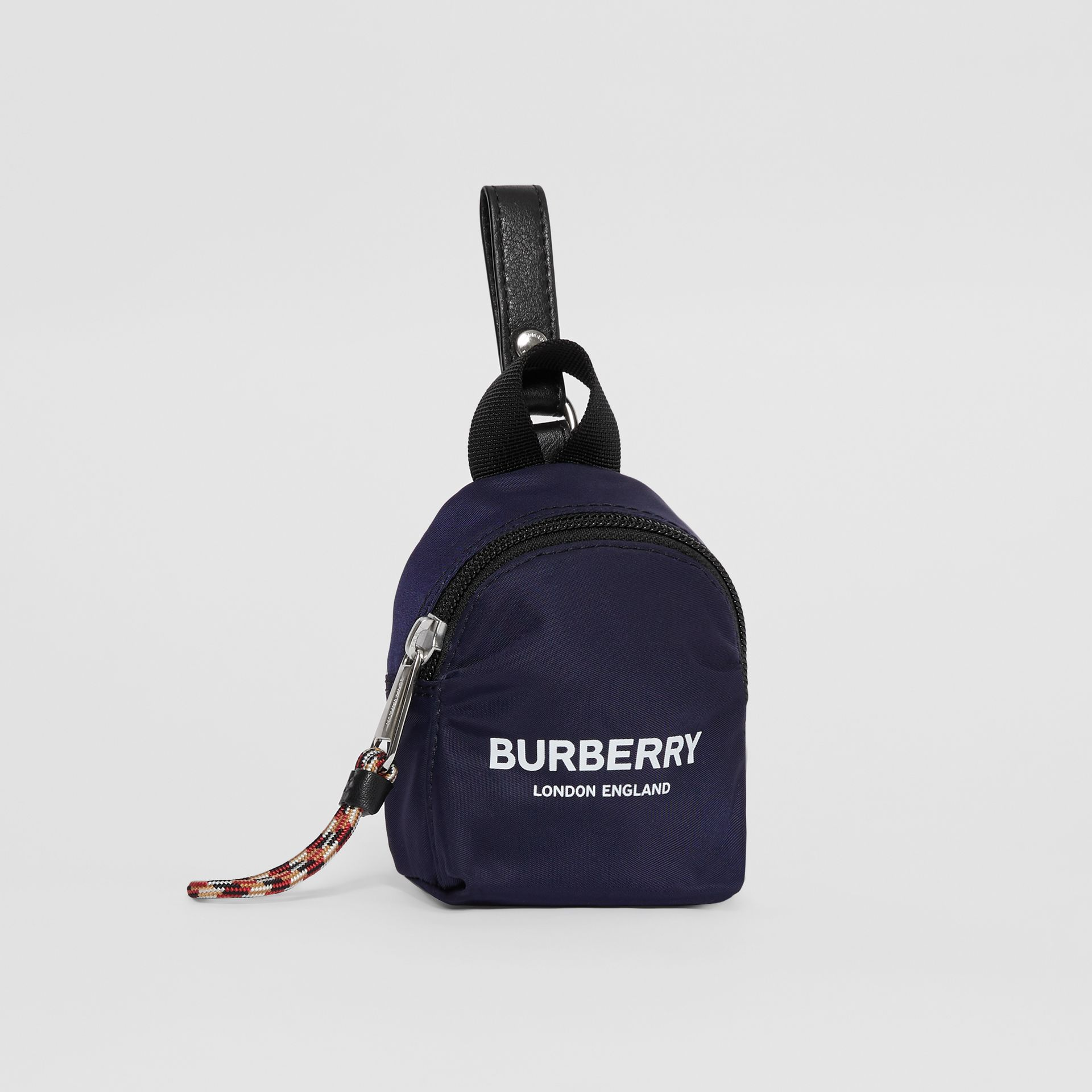 Logo Print Coin Case in Dark Navy - Children | Burberry Australia - gallery image 4