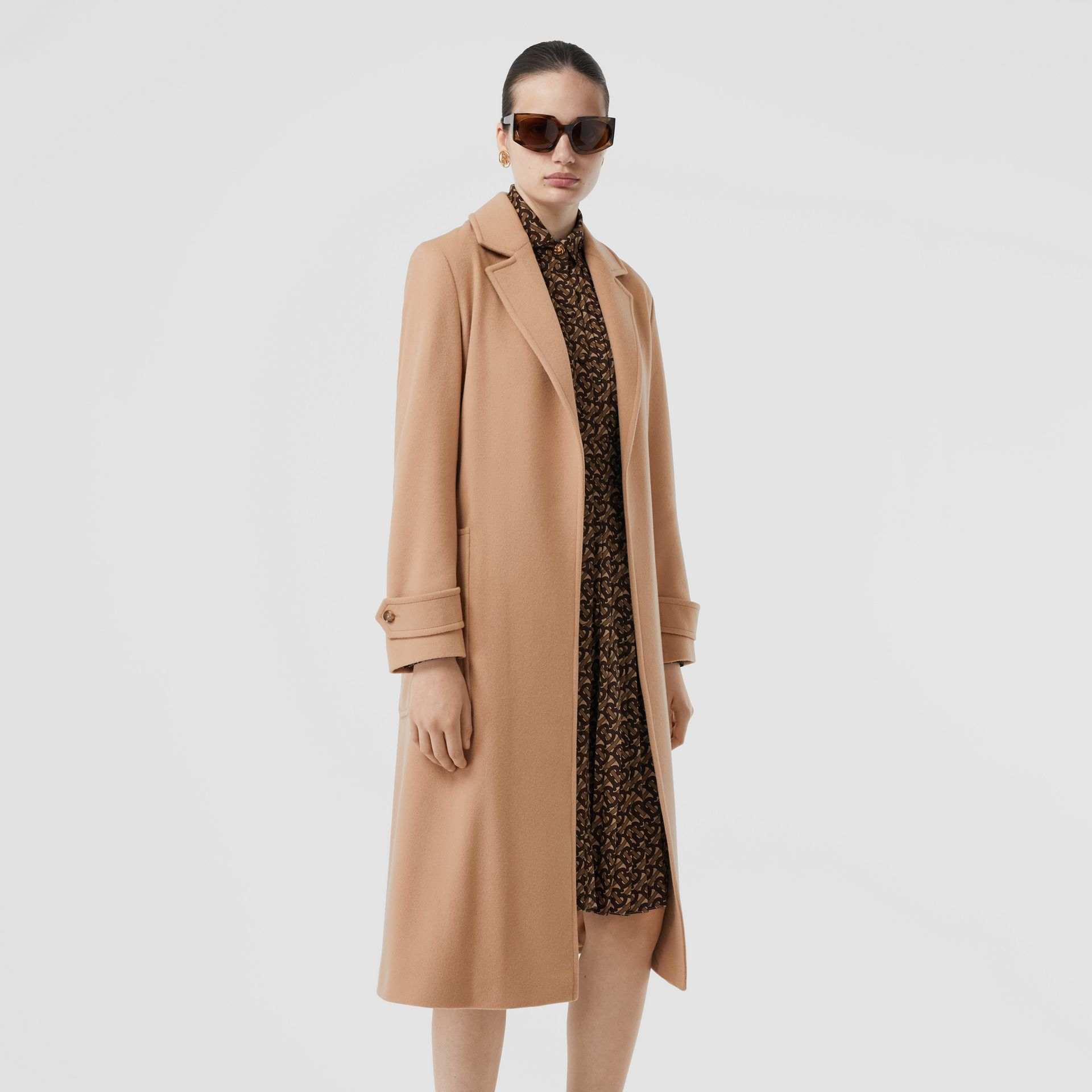 Cashmere Wrap Coat in Modern Beige - Women | Burberry - gallery image 5