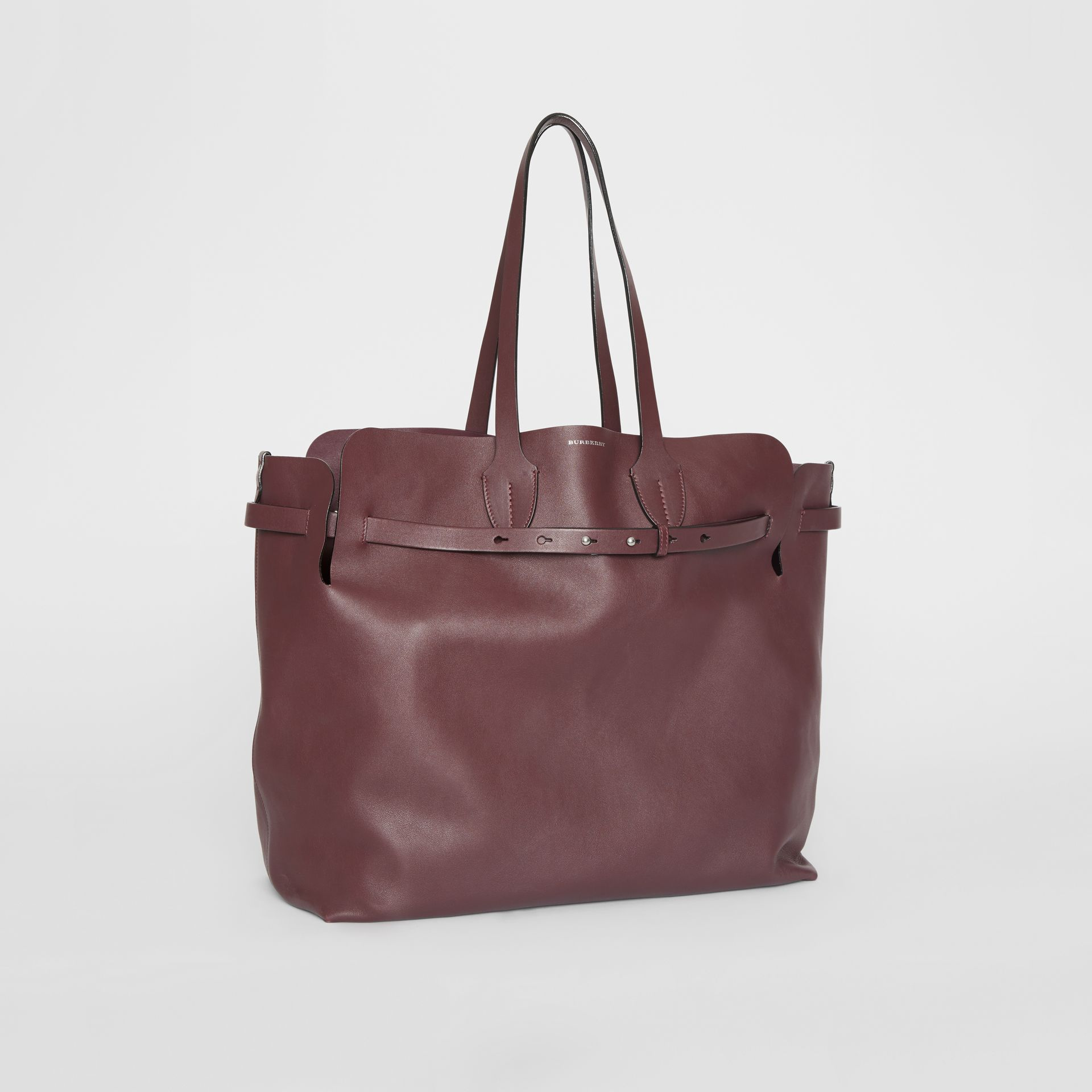 The Large Soft Leather Belt Bag in Deep Claret - Women | Burberry - gallery image 6