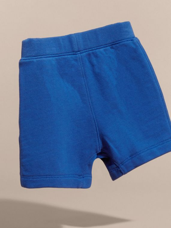 Cotton Jersey Drawcord Shorts in Brilliant Blue - cell image 3