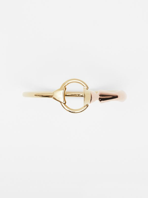 Beechwood and Gold-plated Hoof and Hoop Bracelet in Light - Women | Burberry - cell image 3