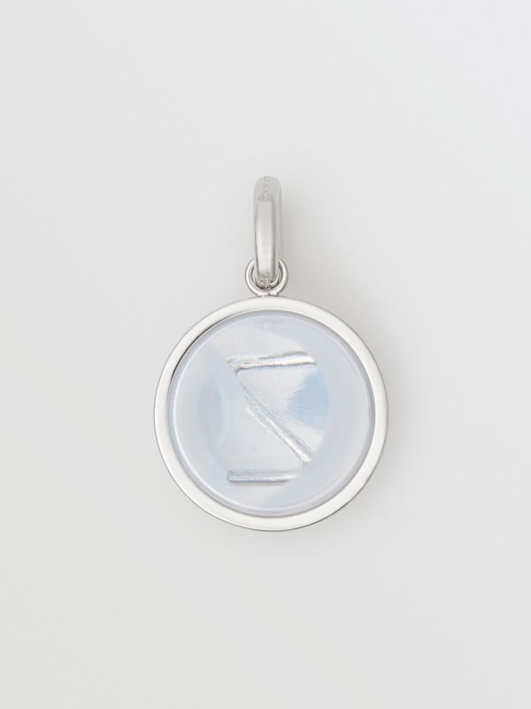 Marbled Resin 'Z' Alphabet Charm in Palladio/nacre - Women | Burberry - cell image 3