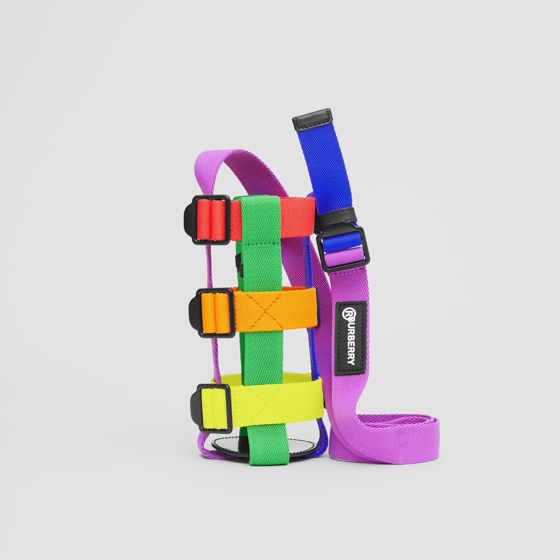 Rainbow Water Bottle Holder in Black/multicolour | Burberry United Kingdom - gallery image 0