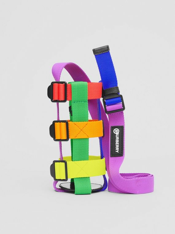 Rainbow Water Bottle Holder in Black/multicolour