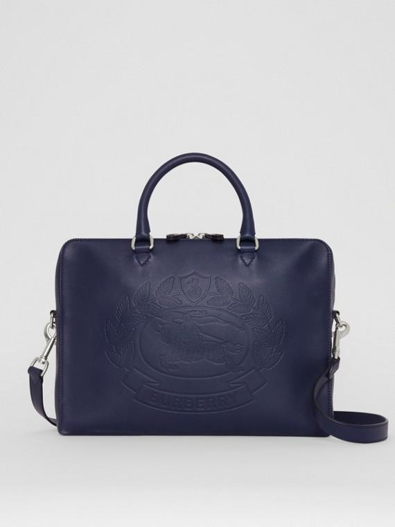 Кожаный портфель с тиснением (Регентский Синий)