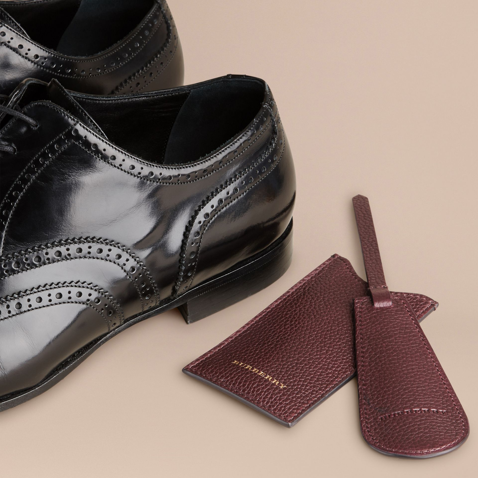 Leather Shoe Horn in Ebony Red - Men | Burberry - gallery image 3