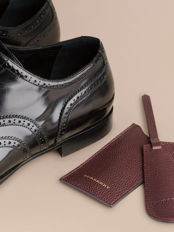 Leather Shoe Horn in Ebony Red - Men | Burberry - cell image 2