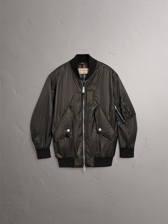 Lightweight Bomber Jacket in Dark Olive - Men | Burberry United Kingdom - cell image 3