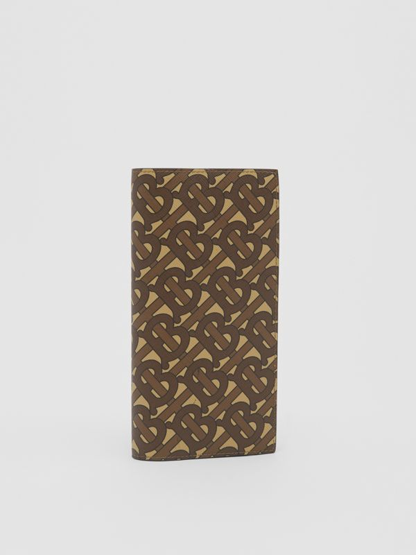 Monogram Print E-canvas Continental Wallet in Bridle Brown - Men | Burberry - cell image 3