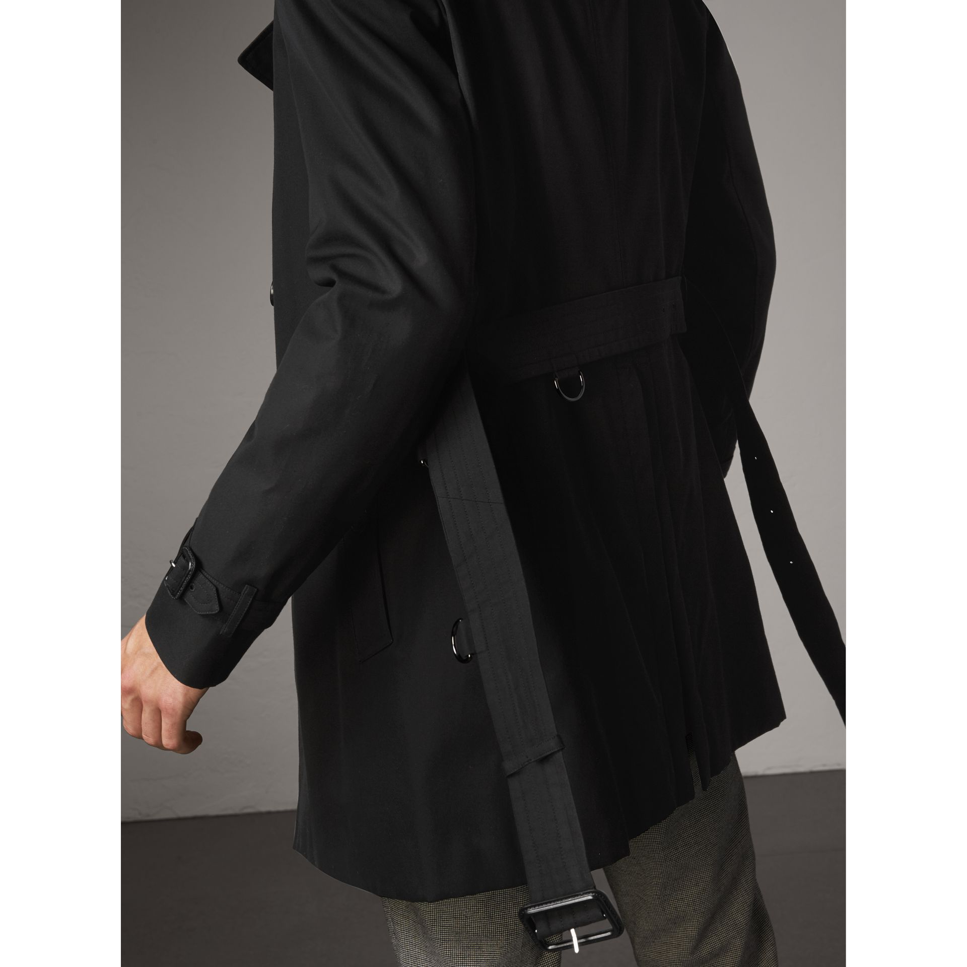 The Chelsea – Mid-length Trench Coat in Black - Men | Burberry United States - gallery image 4