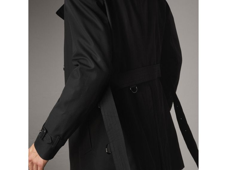 The Chelsea – Mid-length Trench Coat in Black - Men | Burberry - cell image 4