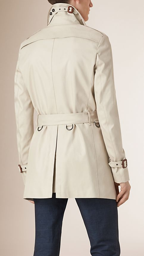 Stone Cotton Gabardine Trench Coat - Image 3