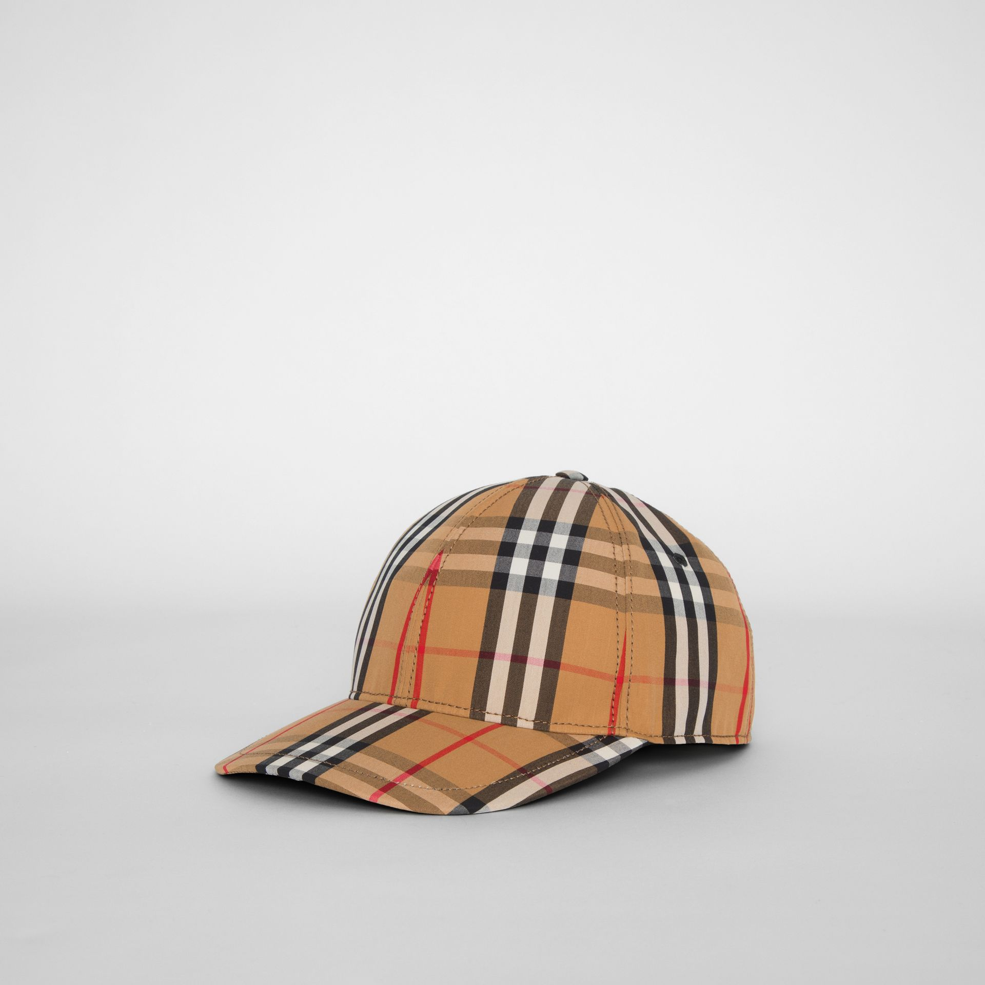 Vintage Check Baseball Cap in Antique Yellow | Burberry United Kingdom - gallery image 5