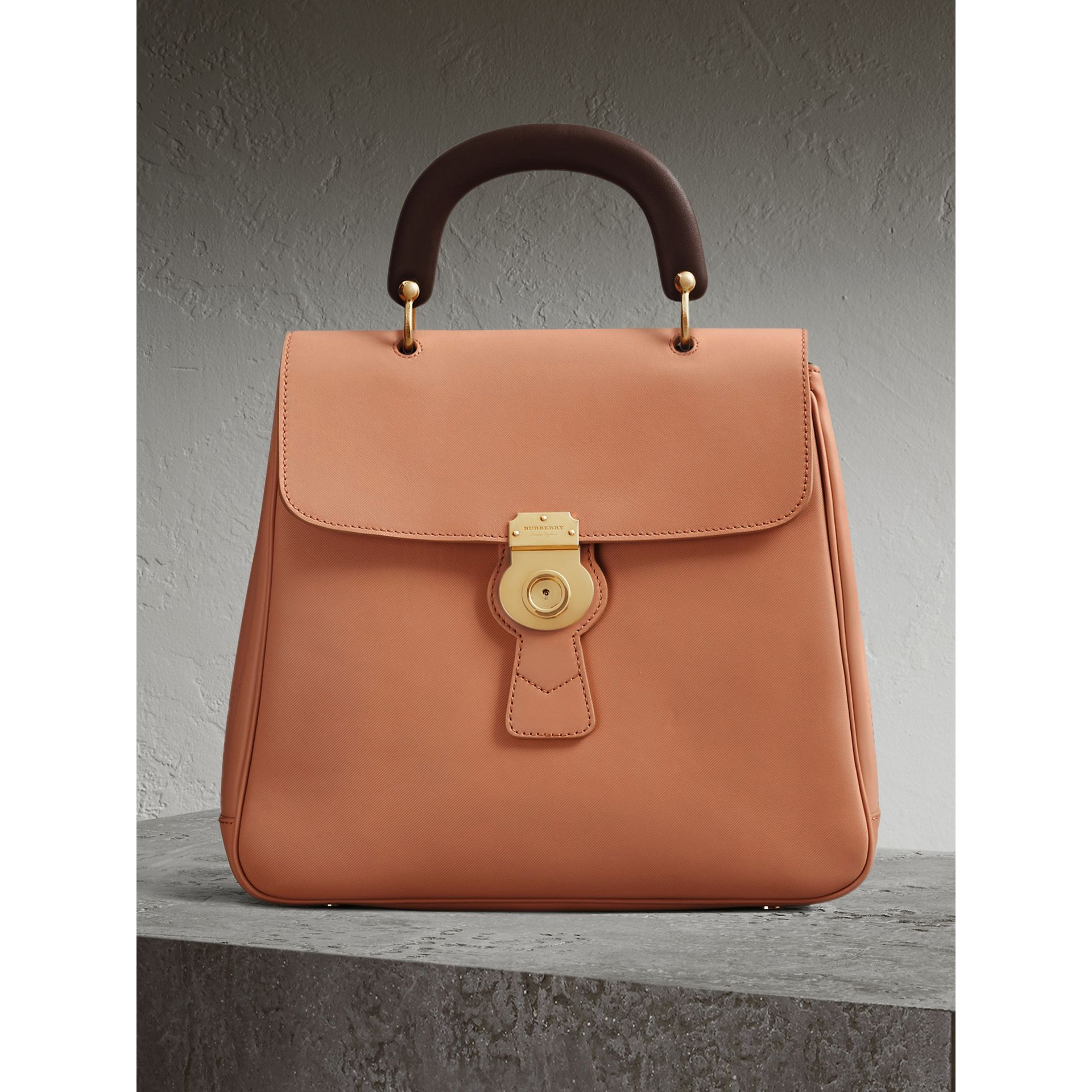 The Large DK88 Top Handle Bag in Pale Clementine - Women | Burberry Australia - gallery image 0