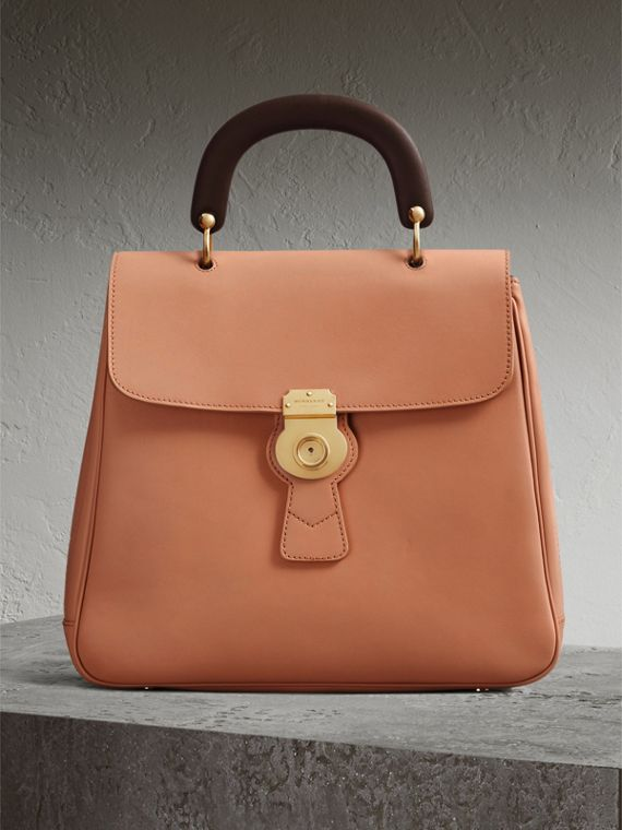 The Large DK88 Top Handle Bag in Pale Clementine