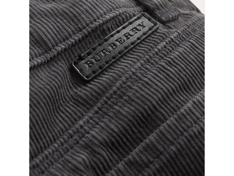 Stretch Corduroy Trousers in Dark Grey | Burberry - cell image 1