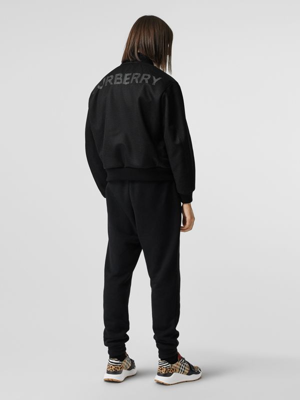 Monogram Motif Cotton Trackpants in Black - Men | Burberry United States - cell image 3