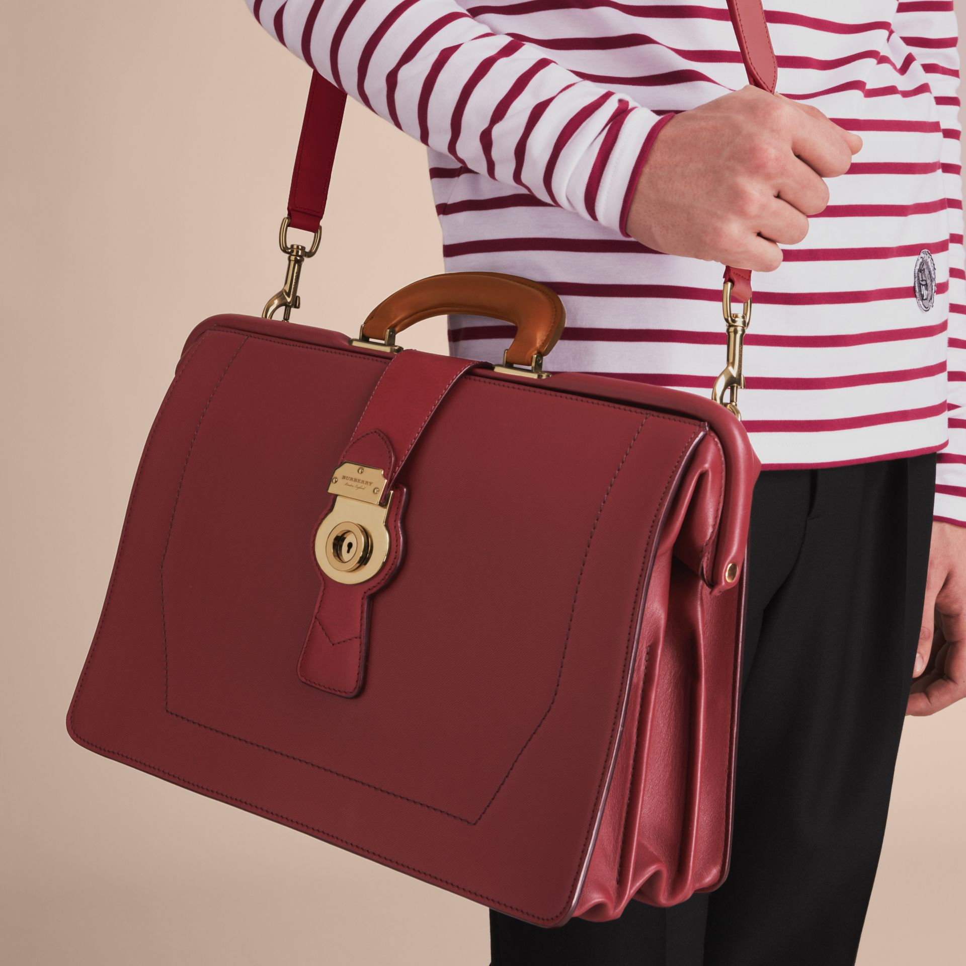 The DK88 Doctor's Bag in Antique Red - Men | Burberry - gallery image 7