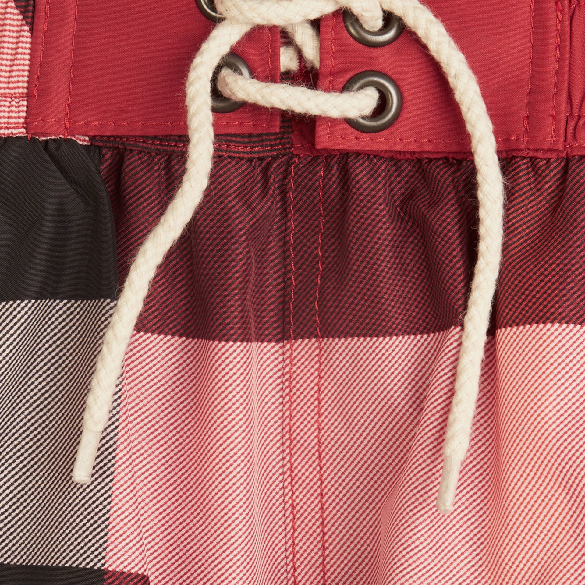 Check Swim Shorts in Parade Red - Boy | Burberry - gallery image 2