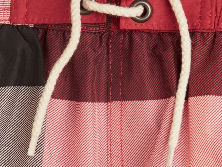 Check Swim Shorts in Parade Red - Boy | Burberry Hong Kong - cell image 1