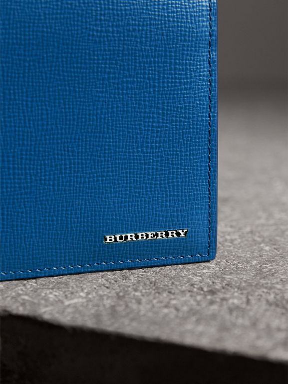 London Leather International Bifold Wallet in Deep Blue | Burberry Canada - cell image 1