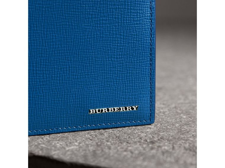 London Leather International Bifold Wallet in Deep Blue | Burberry Hong Kong - cell image 1
