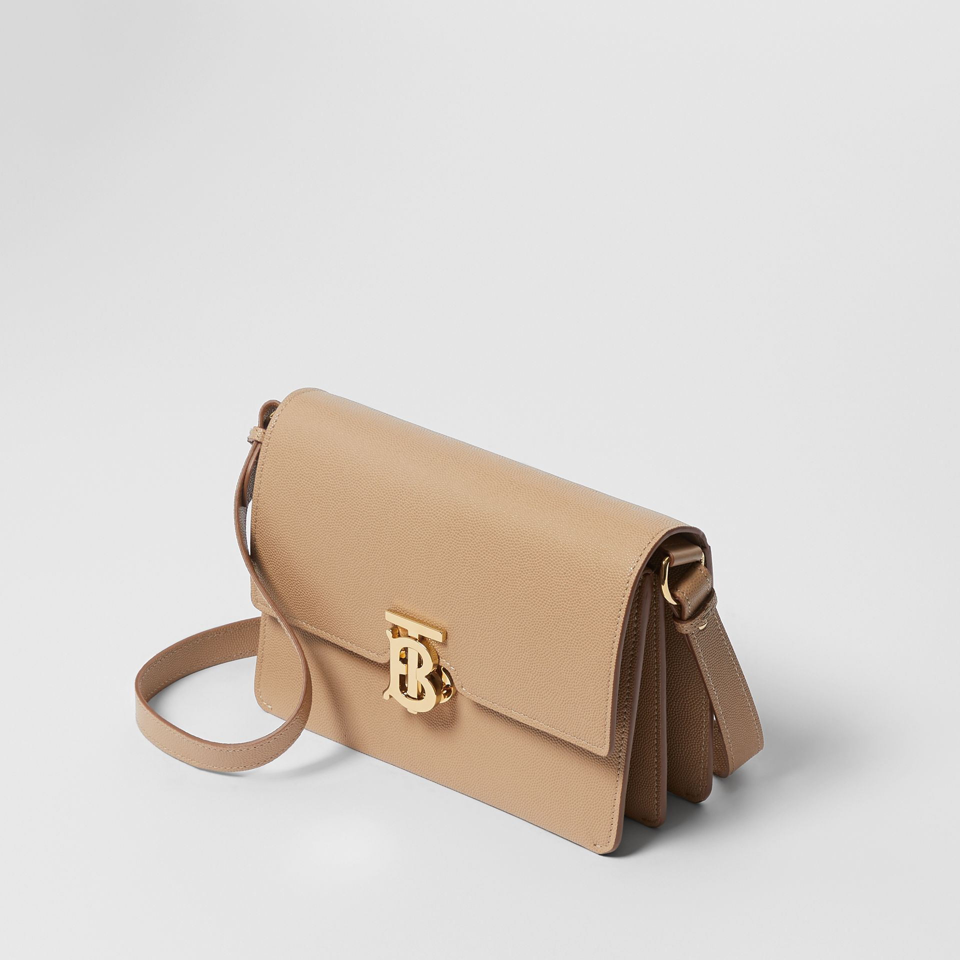 Small Monogram Motif Leather Crossbody Bag in Archive Beige - Women | Burberry Canada - gallery image 3