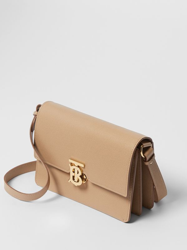 Small Monogram Motif Leather Crossbody Bag in Archive Beige - Women | Burberry - cell image 3