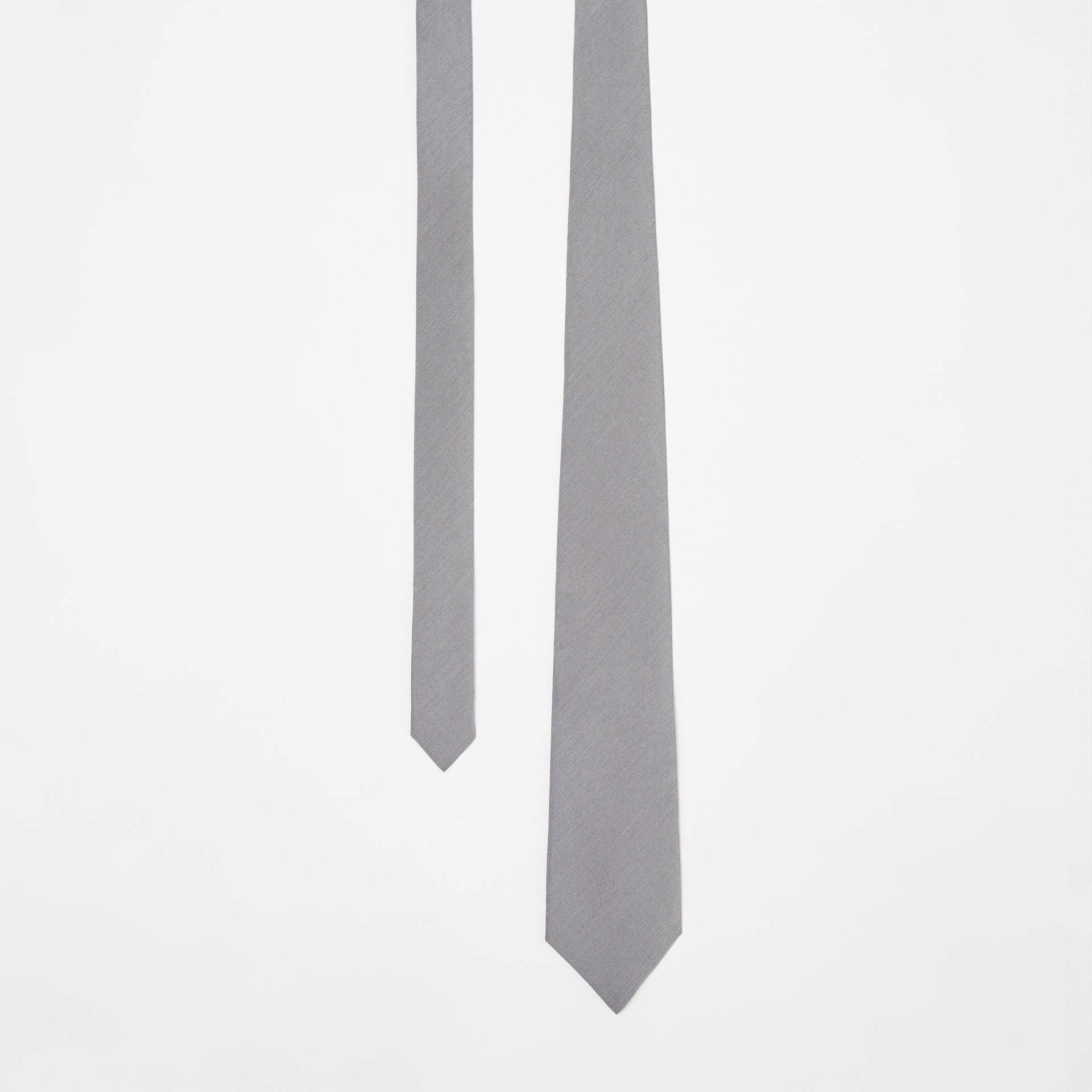 Classic Cut Silk Tie in Light Grey | Burberry - gallery image 0