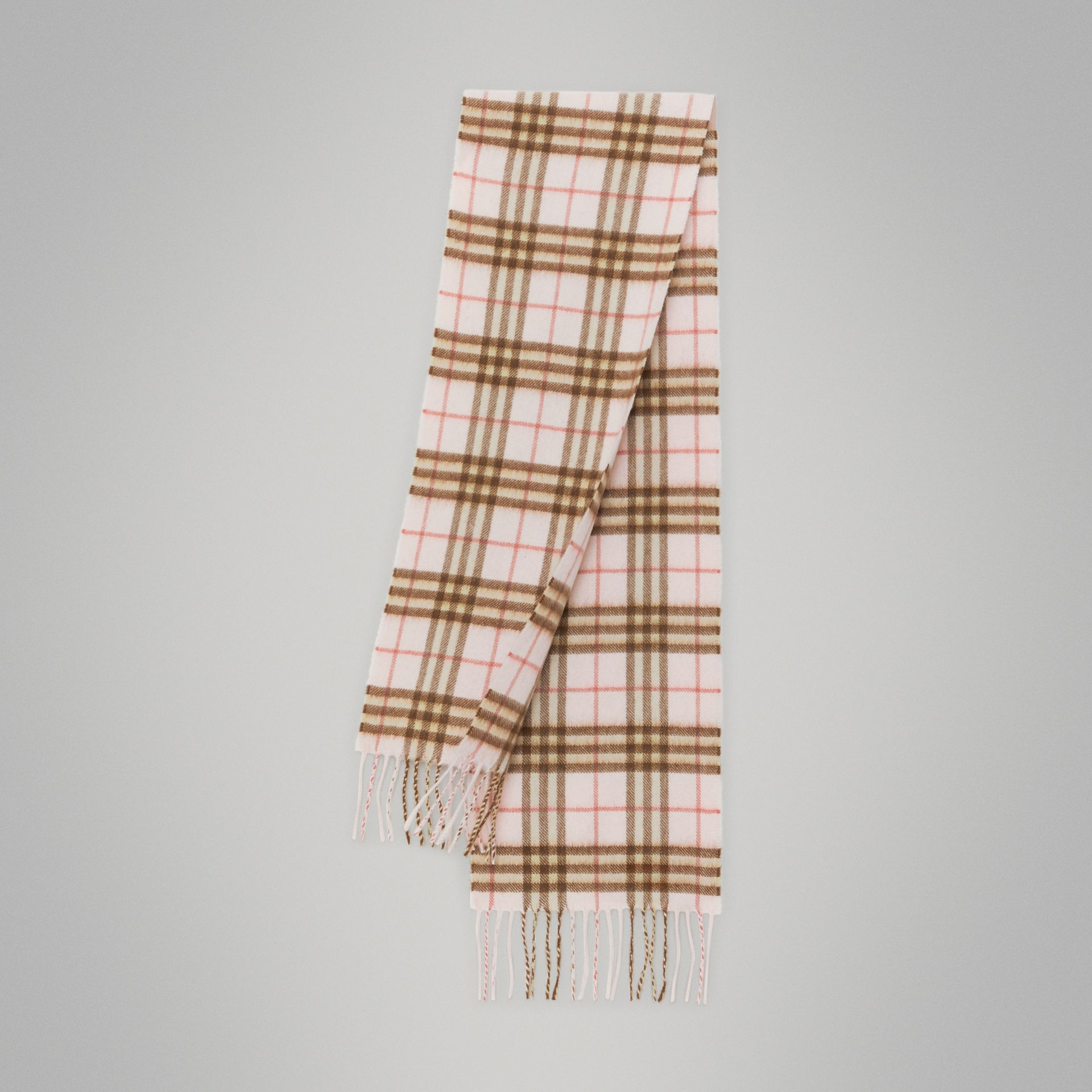 The Mini Classic Vintage Check Cashmere Scarf in Ice Pink - Children | Burberry - gallery image 0