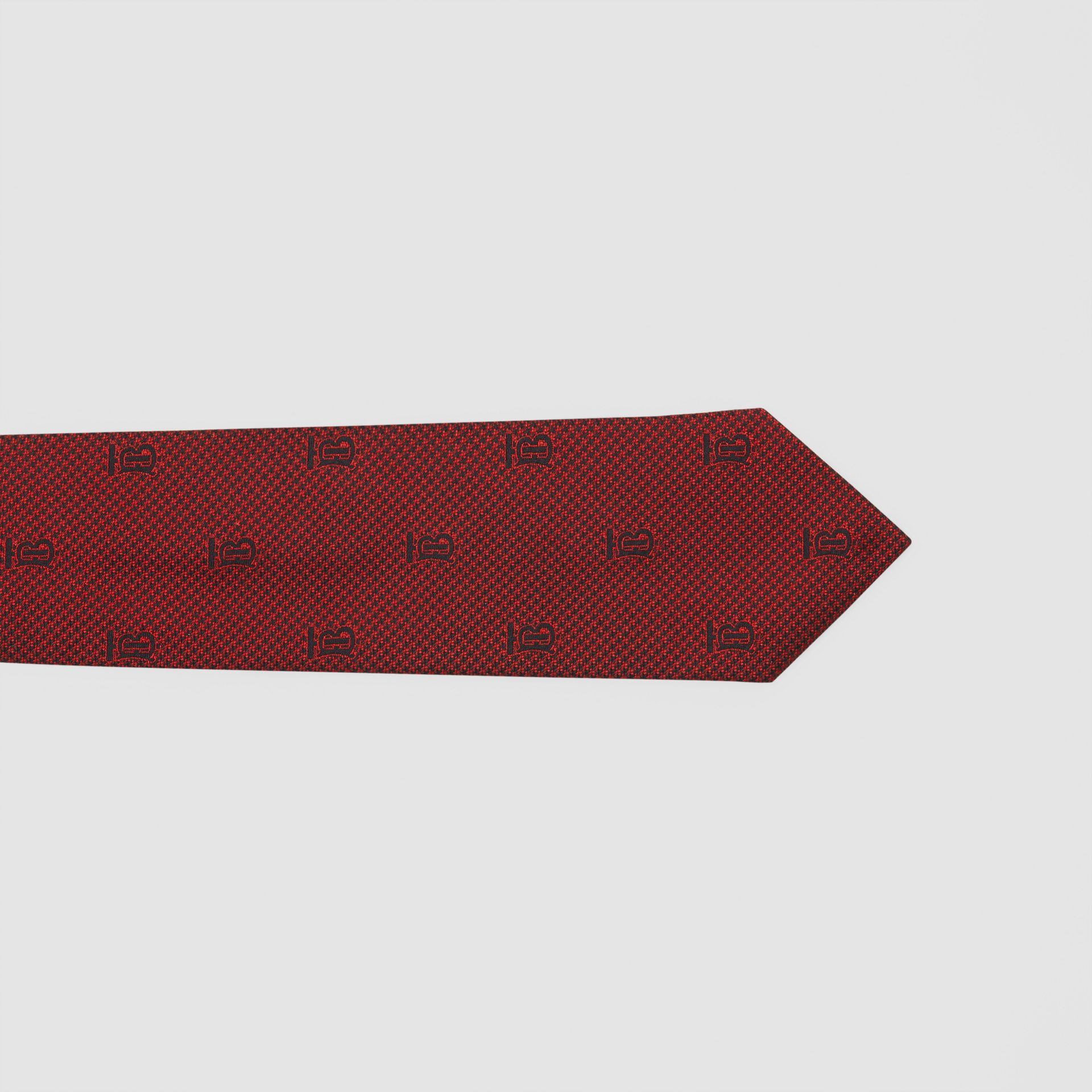 Classic Cut Puppytooth Check Silk Tie in Parade Red - Men | Burberry United States - gallery image 1